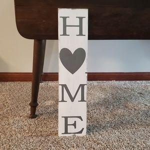 NEW White & Gray Farmhouse HOME Sign
